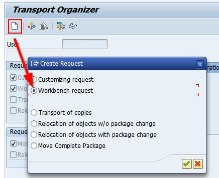 RSADMIN Transport Organizer