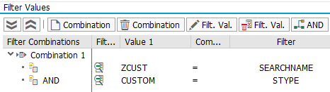 Filter for the custom implementation
