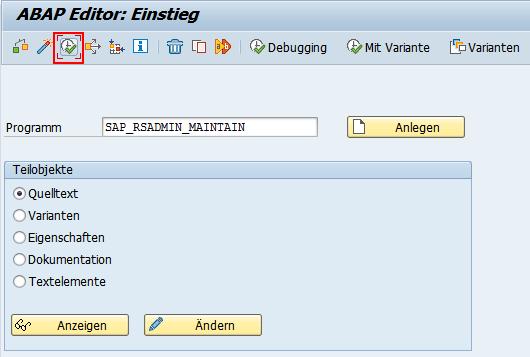 ABAP Editor Einstieg