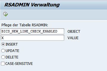 Dialog RSADMIN Verwaltung