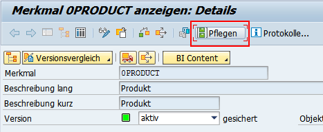 Stammdaten in SAP BW pflegen