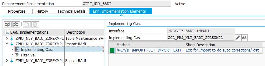 Create an implementation