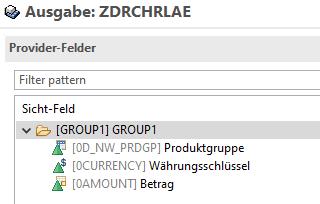 Nur Produktgruppe in Aggregationsebene