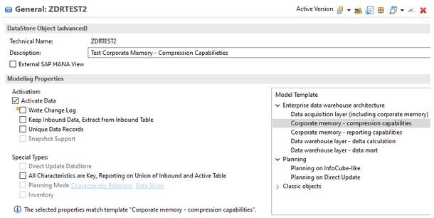 Corporate memory - compression capabilities