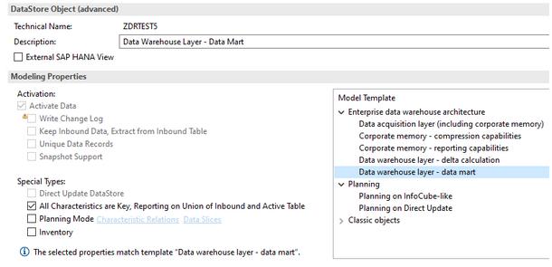 Data Warehouse Layer - data mart