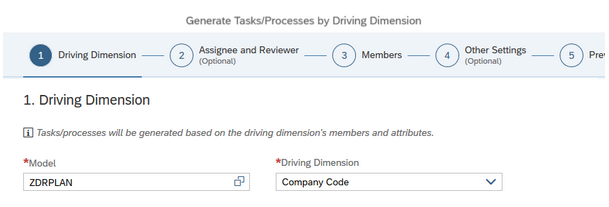 Driving dimension