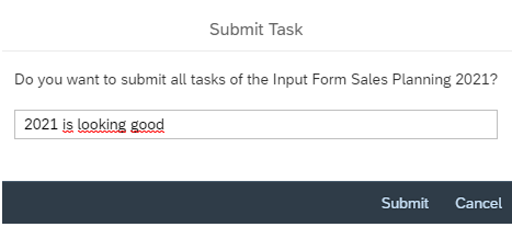 Submit task
