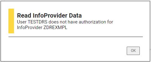 """No authorizations"" message"
