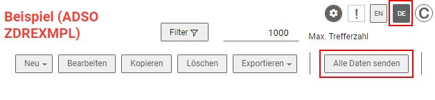 Same button in german
