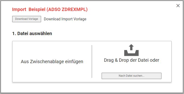 Einfache Upload Oberfläche