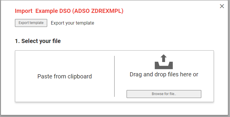 Simple upload interface