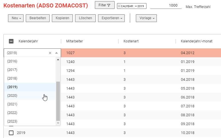 NextTables ermöglicht Inline Editing
