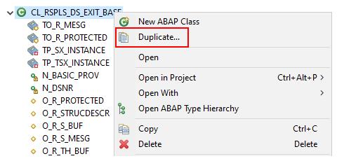 Duplicate the sample class