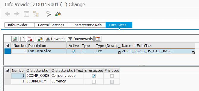 Create data slice