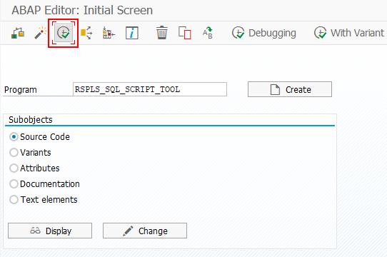 RSPLS_SQL_SCRIPT_TOOL program