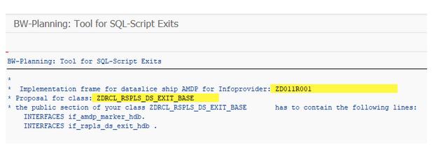 Code proposal