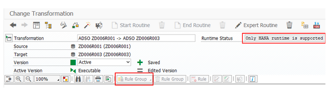 Rule groups are not supported