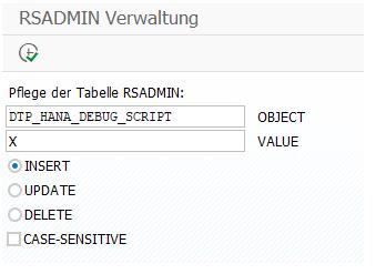 RSADMIN Verwaltung