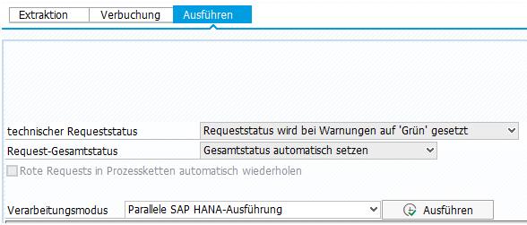 DTP Einstellung - Parallele SAP HANA Ausführung