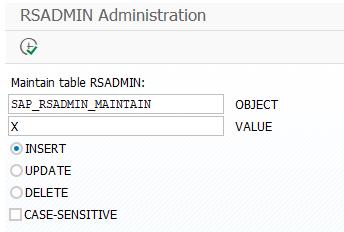 RSADMIN administration