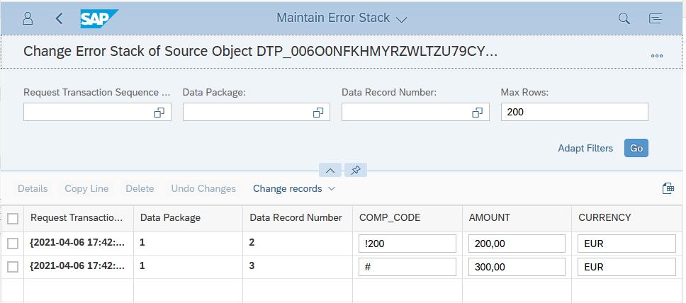 Maintain error stack