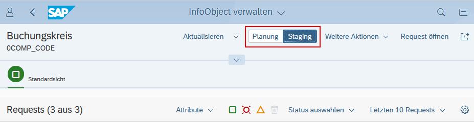 InfoObject verwalten