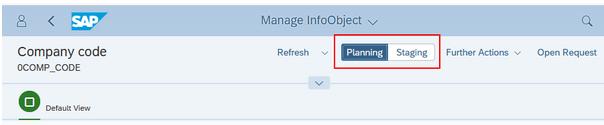 Manage InfoObject