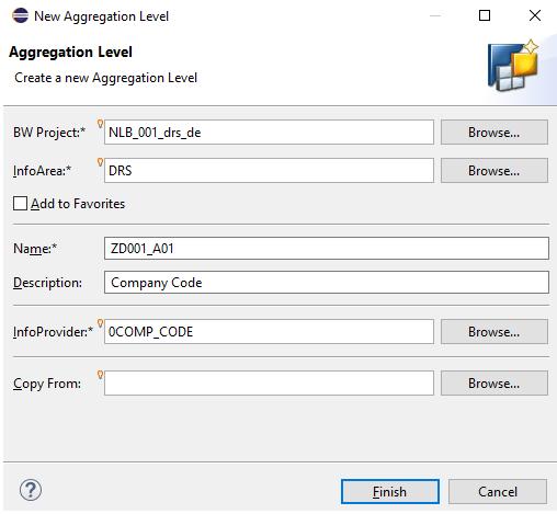 Create a new aggregation level