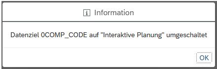 Datenziel auf Interaktive Planung umgeschaltet