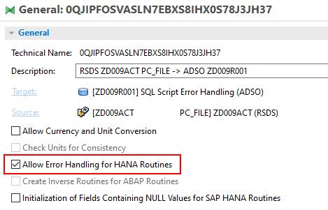 Allow error handling for HANA routines