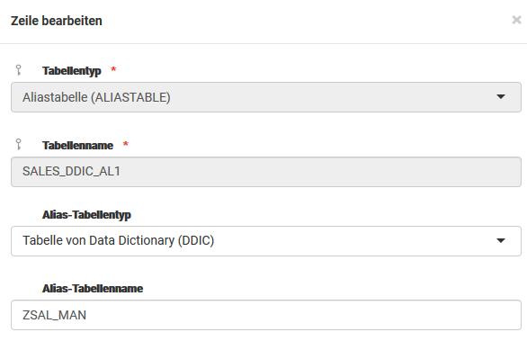 Aliastabelle als Tabellentyp eingeführt