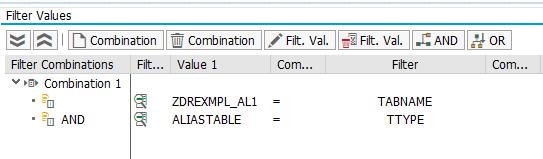 BAdI Filter for an alias table