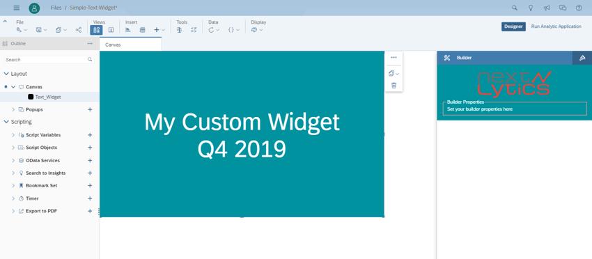Custom Widget SAC Analytics-Designer
