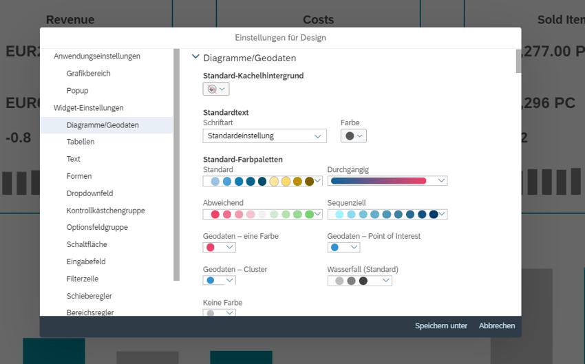 SAC Analytics Designer Theme Designer