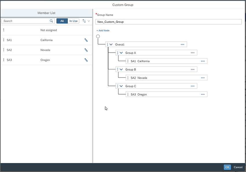 SAP Analytics Cloud Q2 2020 Release Custom Groups Hierarchies