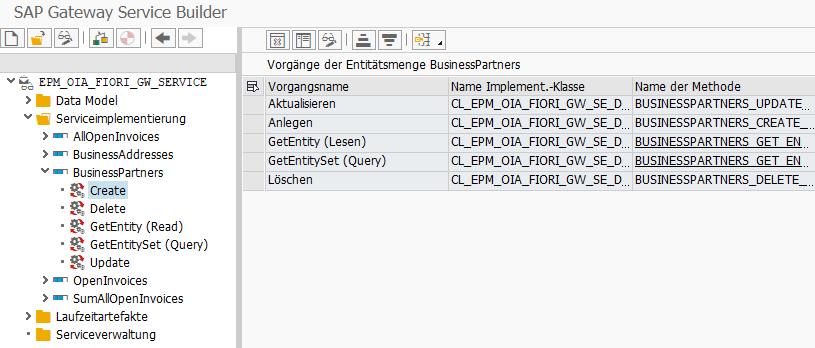 SAP Gateway Service Builder