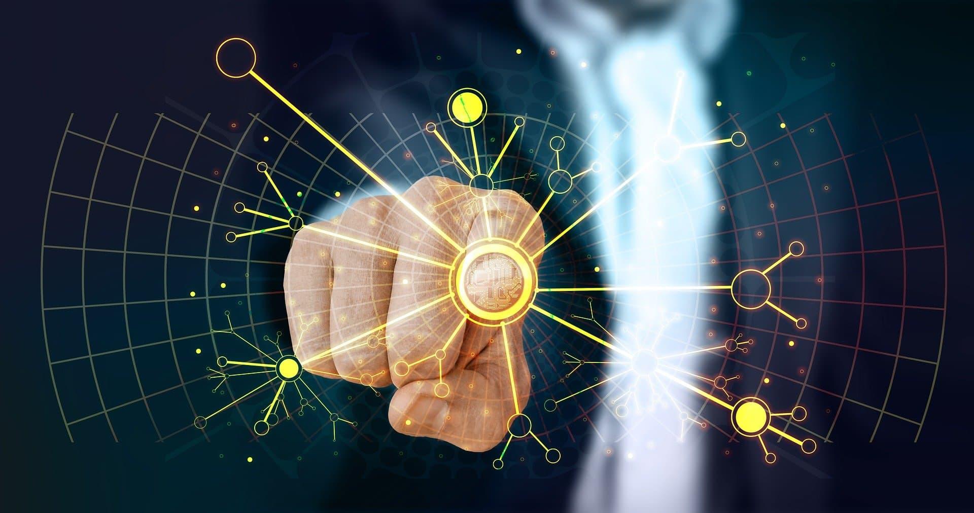 Kuenstliche Intelligenz in Sales und Marketing_Finger Netzwerk